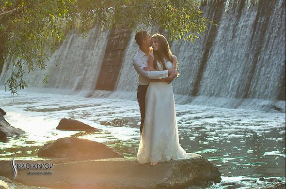 Свадебные фото в каньоне Буки и выездная церемония в ресторане Фортеця - фото №44