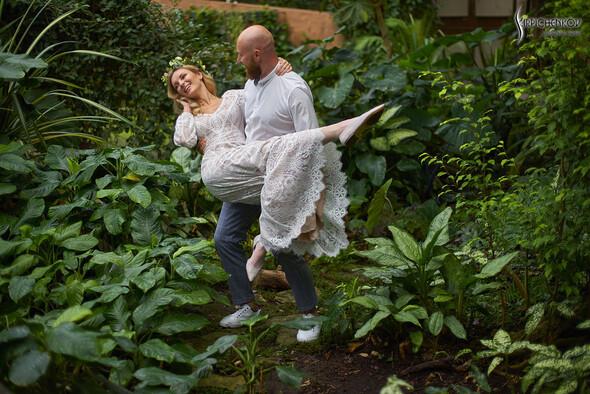 Свадебные фото в Оранжерее в Киеве, студийная сьемка в фотостудии Счастье - фото №10