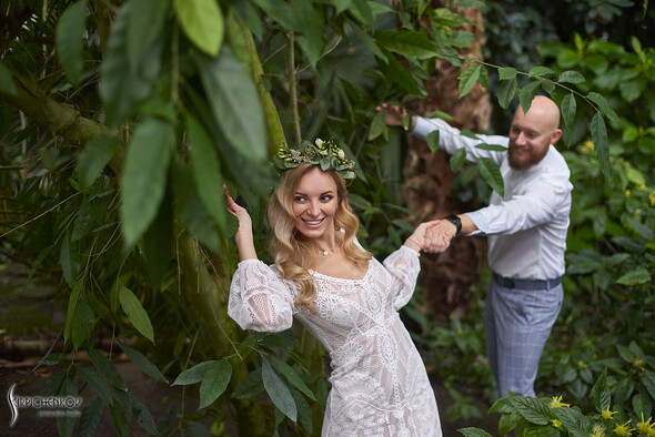Свадебные фото в Оранжерее в Киеве, студийная сьемка в фотостудии Счастье - фото №17