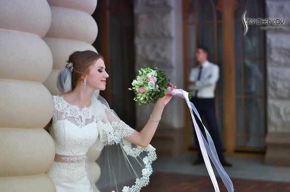 Свадебные фото в каньоне Буки и выездная церемония в ресторане Фортеця - фото №69