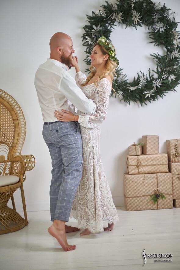 Свадебные фото в Оранжерее в Киеве, студийная сьемка в фотостудии Счастье - фото №40