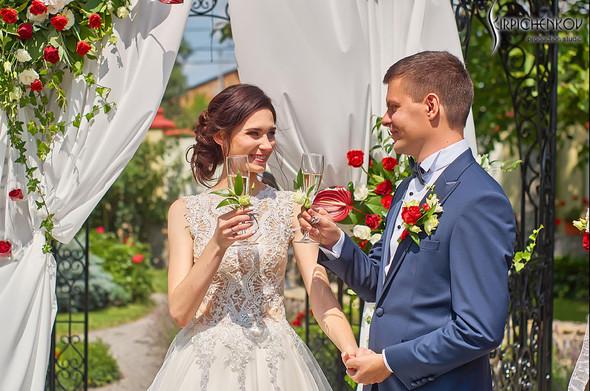 Свадьба на природе возле частного дома с выездной церемонией - фото №28