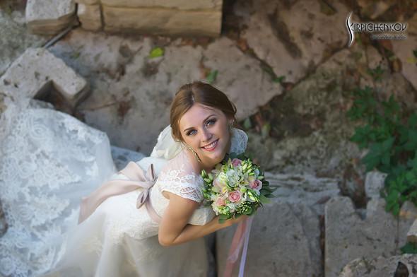 Свадебные фото в каньоне Буки и выездная церемония в ресторане Фортеця - фото №71
