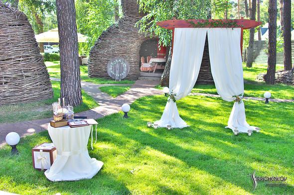 Свадебные фото на Мануфактуре и выездная церемония в ресторане Kidev - фото №67