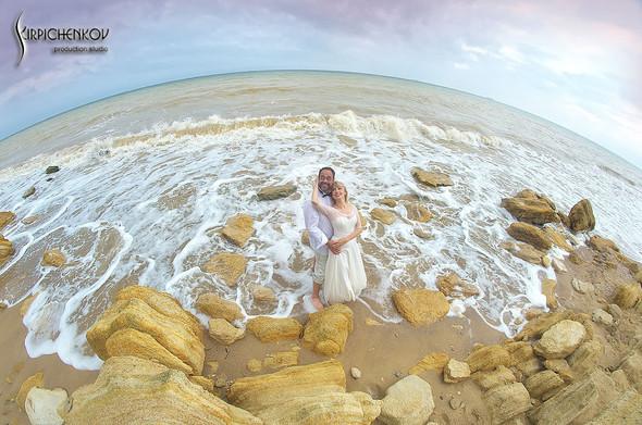 Свадебные фото на море в Одессе, фото в Оперном театре и на маковом поле - фото №62