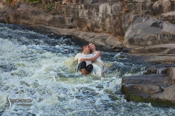 Свадебные фото в каньоне Буки и выездная церемония в ресторане Фортеця - фото №53