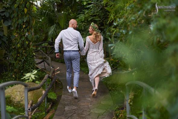 Свадебные фото в Оранжерее в Киеве, студийная сьемка в фотостудии Счастье - фото №4