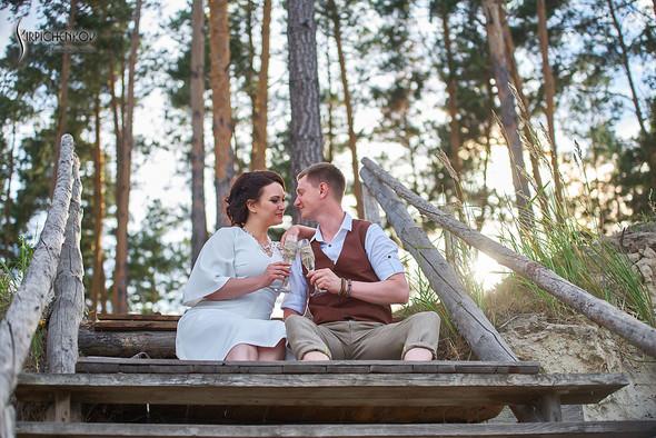 Свадебные фото в Сухолучье, Киевское море и сьемка в поле  - фото №8
