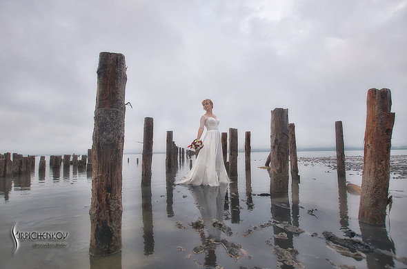 Свадебные фото на море в Одессе, фото в Оперном театре и на маковом поле - фото №36