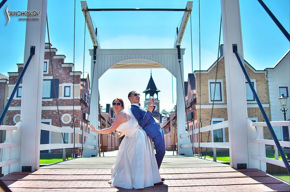 Свадебные фото на Мануфактуре и выездная церемония в ресторане Kidev - фото №41
