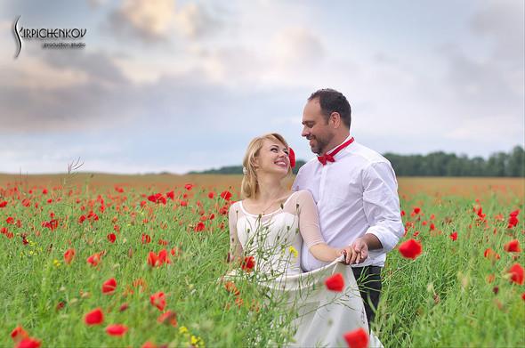 Свадебные фото на море в Одессе, фото в Оперном театре и на маковом поле - фото №45