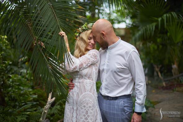Свадебные фото в Оранжерее в Киеве, студийная сьемка в фотостудии Счастье - фото №12