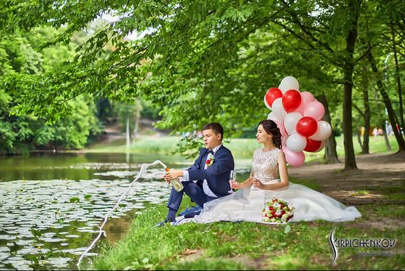 Свадьба на природе возле частного дома с выездной церемонией - фото №37