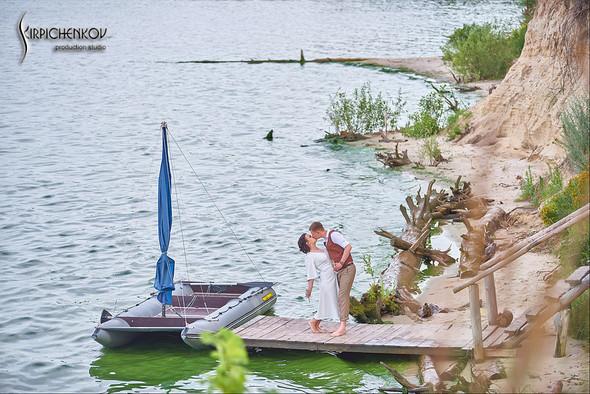 Свадебные фото в Сухолучье, Киевское море и сьемка в поле  - фото №4