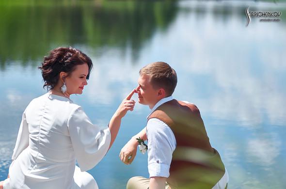 Свадебные фото в Сухолучье, Киевское море и сьемка в поле  - фото №47