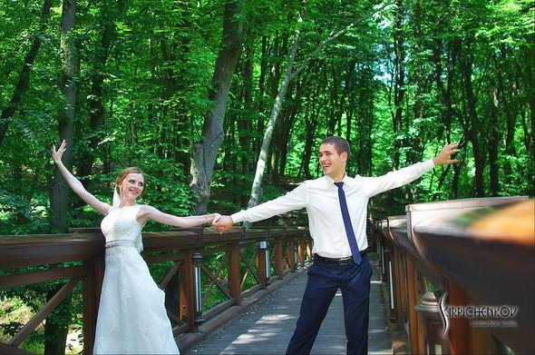 Свадебные фото в каньоне Буки и выездная церемония в ресторане Фортеця - фото №66