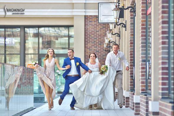 Свадебные фото на Мануфактуре и выездная церемония в ресторане Kidev - фото №62