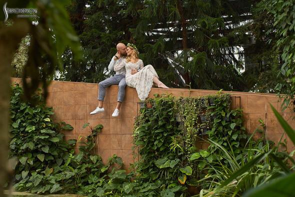 Свадебные фото в Оранжерее в Киеве, студийная сьемка в фотостудии Счастье - фото №19