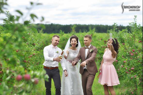 Свадебные фото в яблочном саду, г. Чернигов - фото №28