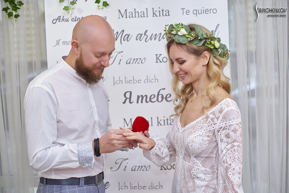 Свадебные фото в Оранжерее в Киеве, студийная сьемка в фотостудии Счастье - фото №26