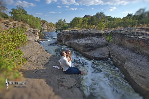 Свадебные фото в каньоне Буки и выездная церемония в ресторане Фортеця - фото №37