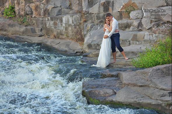 Свадебные фото в каньоне Буки и выездная церемония в ресторане Фортеця - фото №52