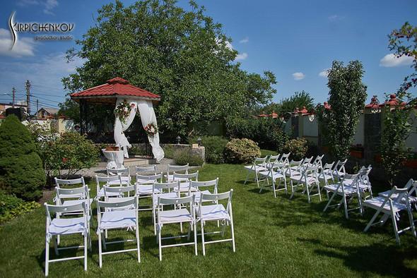 Свадьба на природе возле частного дома с выездной церемонией - фото №14
