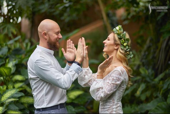 Свадебные фото в Оранжерее в Киеве, студийная сьемка в фотостудии Счастье - фото №7