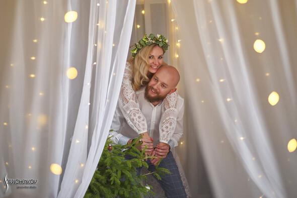 Свадебные фото в Оранжерее в Киеве, студийная сьемка в фотостудии Счастье - фото №44