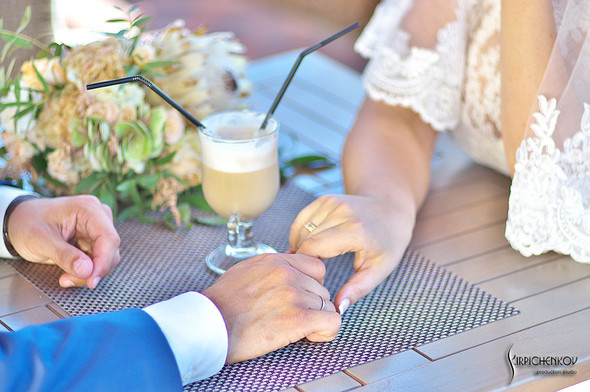 Свадебные фото на Мануфактуре и выездная церемония в ресторане Kidev - фото №58