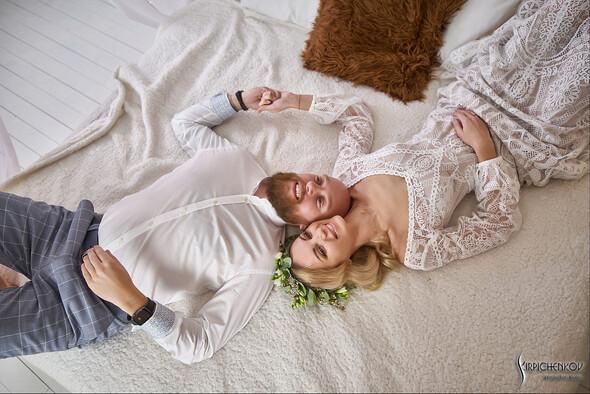 Свадебные фото в Оранжерее в Киеве, студийная сьемка в фотостудии Счастье - фото №37
