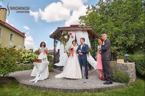 Свадьба на природе возле частного дома с выездной церемонией - фото №17