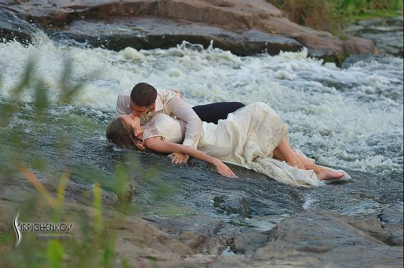 Свадебные фото в каньоне Буки и выездная церемония в ресторане Фортеця - фото №55