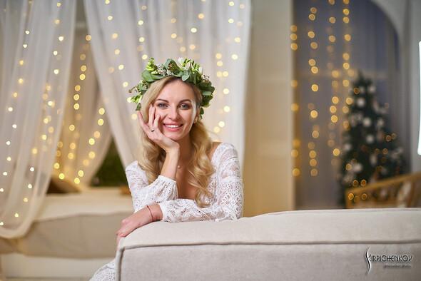 Свадебные фото в Оранжерее в Киеве, студийная сьемка в фотостудии Счастье - фото №31