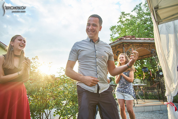 Свадьба на природе возле частного дома с выездной церемонией - фото №85