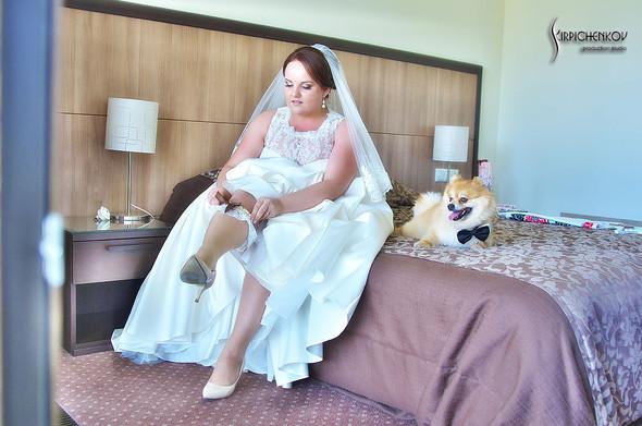Свадебные фото на Мануфактуре и выездная церемония в ресторане Kidev - фото №19