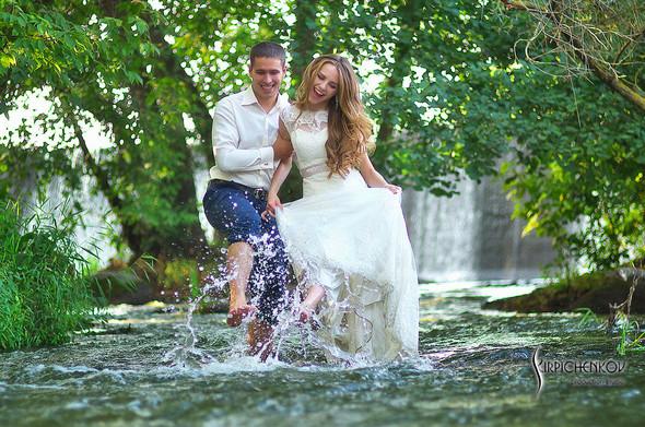 Свадебные фото в каньоне Буки и выездная церемония в ресторане Фортеця - фото №39