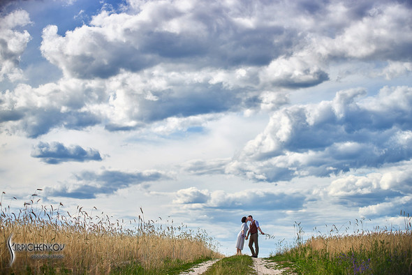 Свадебные фото в Сухолучье, Киевское море и сьемка в поле  - фото №17
