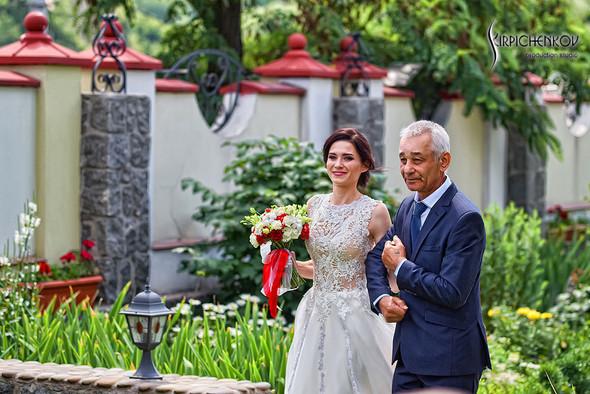 Свадьба на природе возле частного дома с выездной церемонией - фото №16