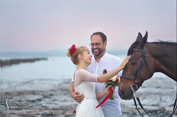 Свадебные фото на море в Одессе, фото в Оперном театре и на маковом поле - фото №34