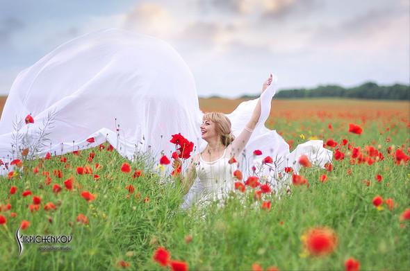 Свадебные фото на море в Одессе, фото в Оперном театре и на маковом поле - фото №39