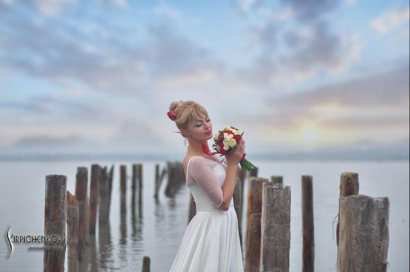 Свадебные фото на море в Одессе, фото в Оперном театре и на маковом поле - фото №37