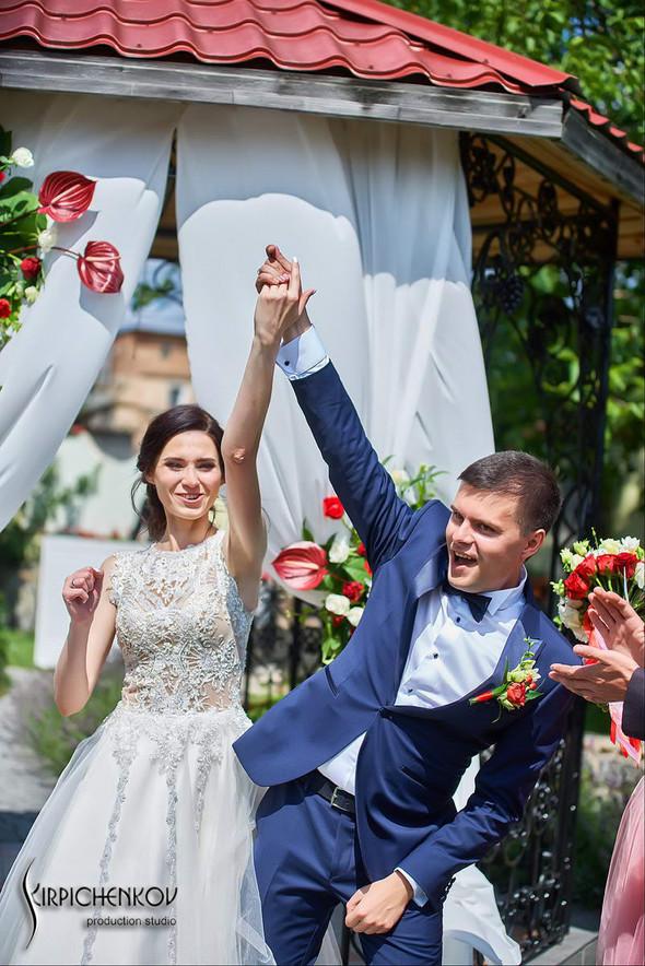 Свадьба на природе возле частного дома с выездной церемонией - фото №27