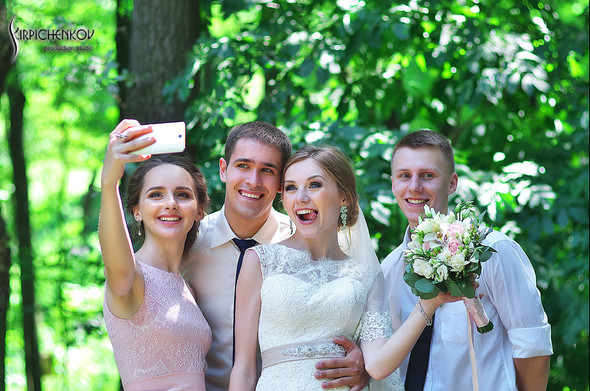 Свадебные фото в каньоне Буки и выездная церемония в ресторане Фортеця - фото №73