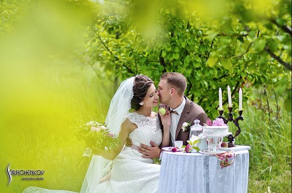 Свадебные фото в яблочном саду, г. Чернигов - фото №14