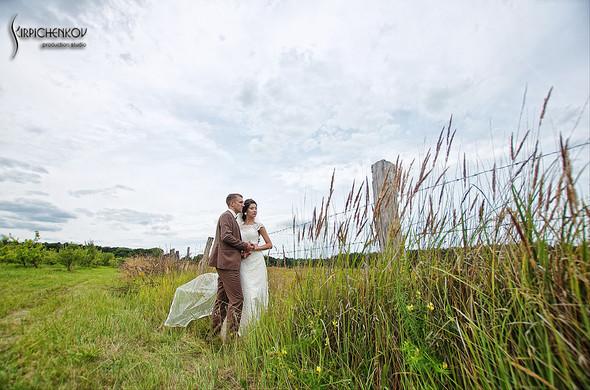 Свадебные фото в яблочном саду, г. Чернигов - фото №21