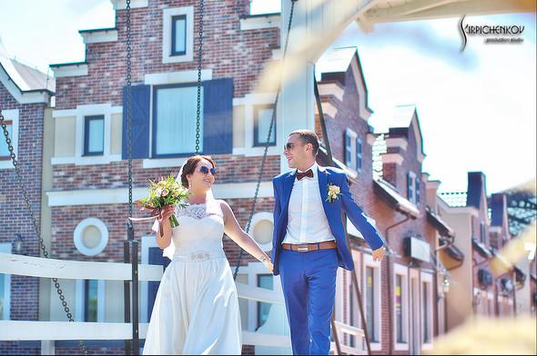 Свадебные фото на Мануфактуре и выездная церемония в ресторане Kidev - фото №38