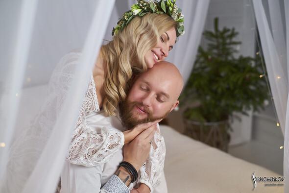 Свадебные фото в Оранжерее в Киеве, студийная сьемка в фотостудии Счастье - фото №39