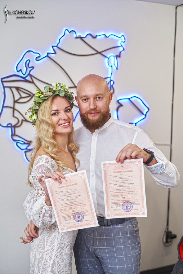 Свадебные фото в Оранжерее в Киеве, студийная сьемка в фотостудии Счастье - фото №24