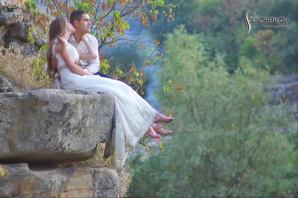 Свадебные фото в каньоне Буки и выездная церемония в ресторане Фортеця - фото №48
